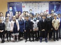 Учащиеся Чемодановской средней школы посетили Дворец спорта «Буртасы».