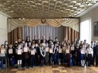 В Пензе наградили юных пожарных, победителей творческих конкурсов.