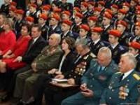 Воспитанники школы №70 по делам ГО и ЧС имени 70-летия Победы в Великой Отечественной войне стали кадетами.